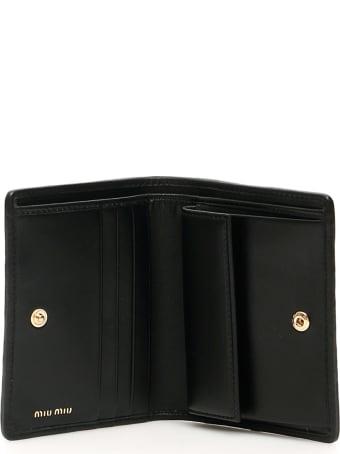 Miu Miu Miu Crystal Matelasse' Bifold Wallet