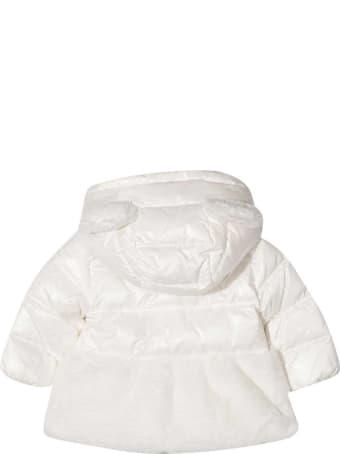 Moschino White Padded Jacket With Logo