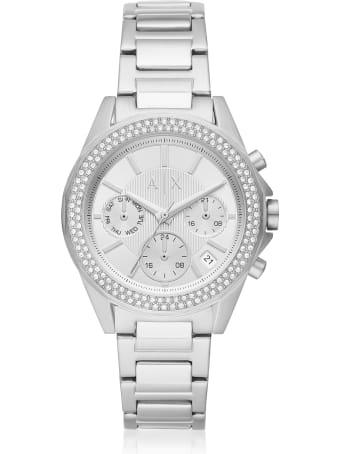 Armani Collezioni Armani Exchange Lady Drexler Stainless Steel Chronograph Watch