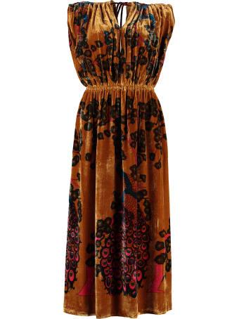 Mes Demoiselles Printed Velvet Dress
