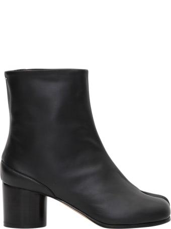 Maison Margiela Tabi60 Mm Ankle Boot 100%calf Leather
