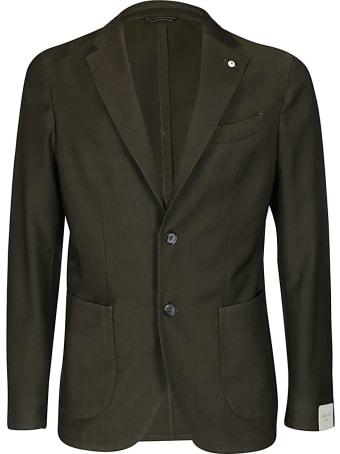 L.B.M. 1911 Green Wool-mohair Blend Blazer