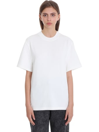 T by Alexander Wang T-shirt In White Cotton