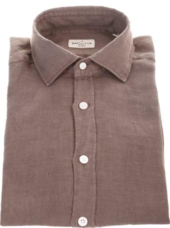 Bagutta brown linen shirt