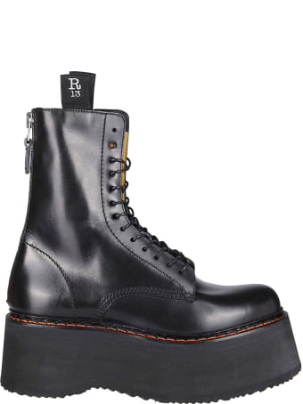 R13 Black Leather Boots