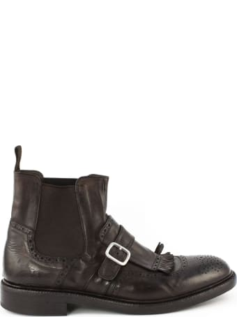 Green George Brown Leather Ankle Boots