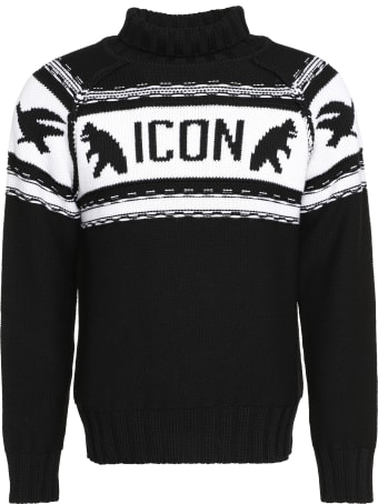 Dsquared2 Virgin Wool Turtleneck Sweater