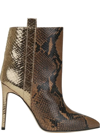 Paris Texas Snake Metal Ankle Bootie
