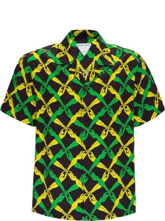 Bottega Veneta Rayon Shirt With 1987 Graphic Print