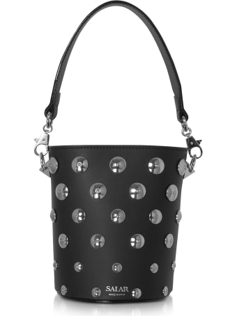Salar Black Celia Moon Bucket Bag