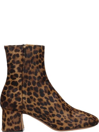 Fabio Rusconi Ankle Boots In Animalier Pony Skin