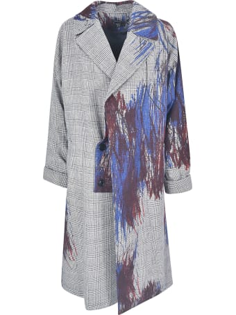 Y's Check Painted Coat