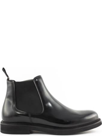 Berwick 1707 Black Leather Ankle Boot