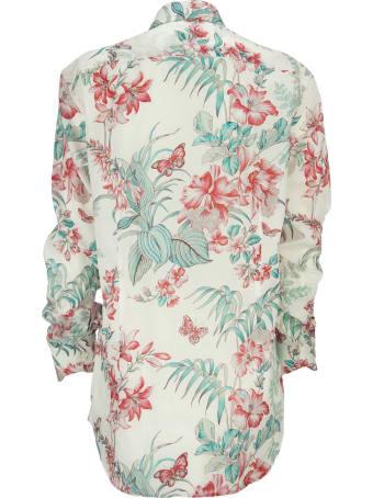 Etro Flower-print Cotton Shirt Natural