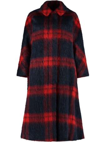 RED Valentino Oversize Checked Coat