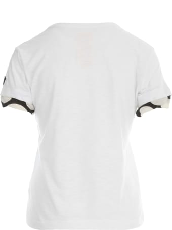 Y's Uneven Yarn X Pe Polka Pig Rn S/s T-shirt