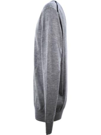 Hosio Grey Virgin Wool Jumper