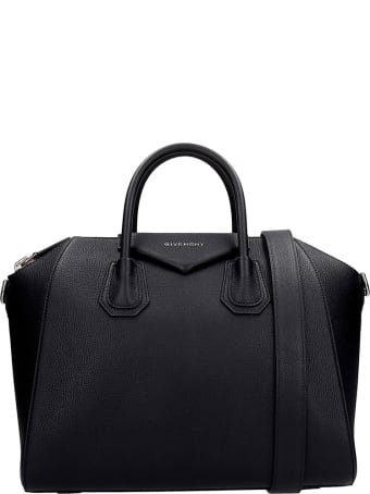 Givenchy Antigona Hand Bag In Black Leather