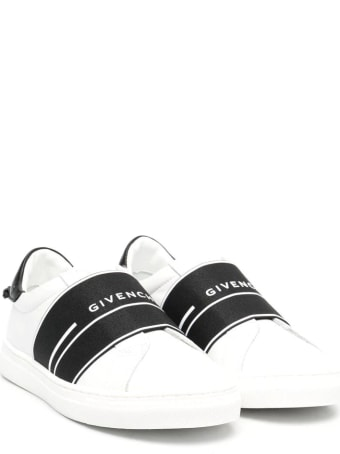 Givenchy Kid Urban Street White Sneakers With Black Band