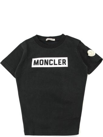 Moncler Black Cotton T-shirt