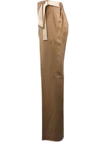 Antonelli Biscuit-tone Linen Blend Trousers