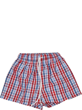 Mariella Ferrari Checked Boxer Shorts