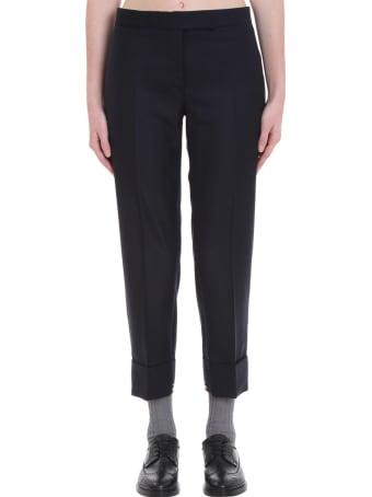 Thom Browne Pants In Blue Wool