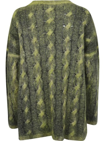 f cashmere Printed Ribbed Sweater