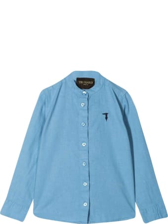 Trussardi Teen Shirt With Trussardi Junior Embroidery