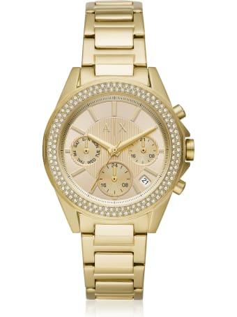 Armani Collezioni Armani Exchange Lady Drexler Gold Tone Chronograph Watch