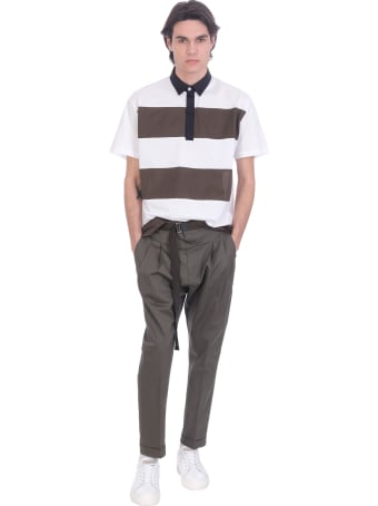Low Brand Pants In Green Cotton