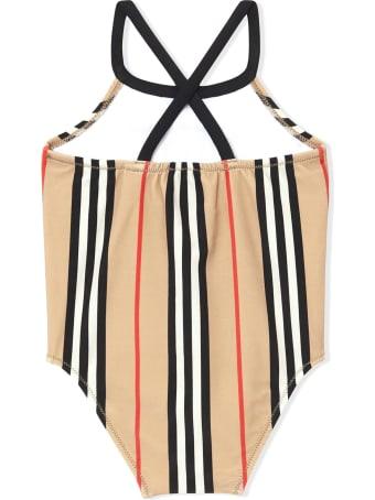 Burberry Beige Icon Stripe Swimsuit