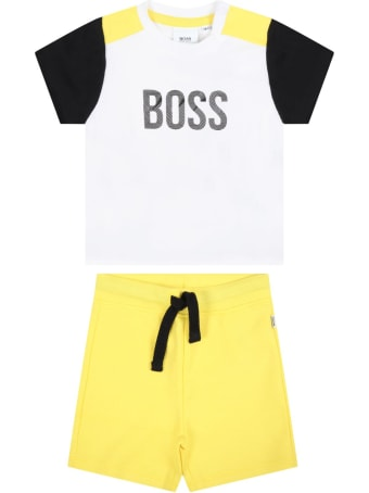 Hugo Boss Multicolor Suit For Babyboy With Logo