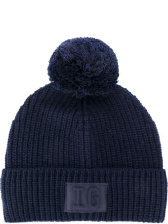 Il Gufo Blue Wool Knitted Hat