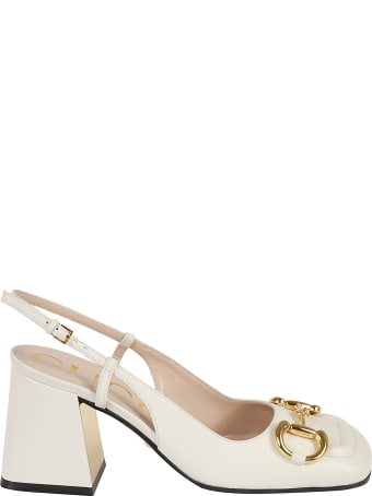Gucci Logo Plaque Slingback Pumps