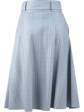 DROMe Perforated Leather Skirt