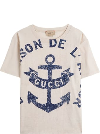Gucci Cotton T-shirt With Print And Logo