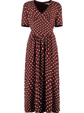 ALEXACHUNG Polka Dot Print Dress