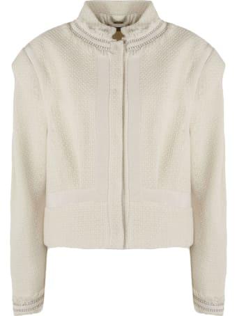 Alberta Ferretti White Cotton Jacket