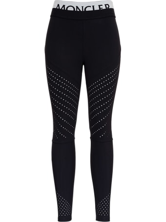 Moncler Leggings In Elastic Fabric With Logo