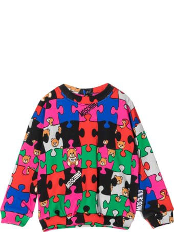 Moschino Multicolor Sweatshirt With Round Neck