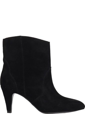 Bibi Lou Ankle Boots In Black Suede