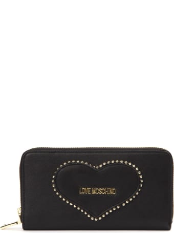 Love Moschino Black Pvc Heart Wallet