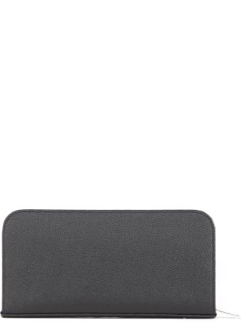 Saint Laurent Zip Around Wallet In Grain De Poudre Leather