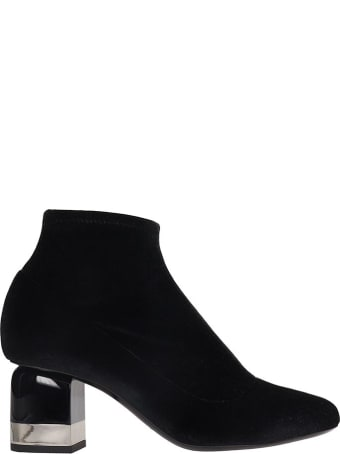 Pierre Hardy Kelly  Ankle Boots In Black Velvet