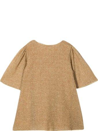Oseree Gold Glitter Dress