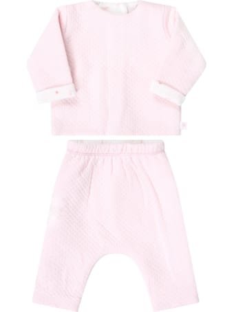 Absorba Pink Suit For Babykids With Flowers