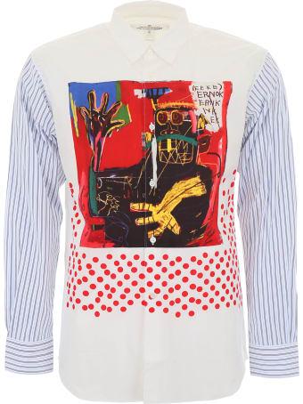 Comme des Garçons Shirt Basquiat Print Shirt