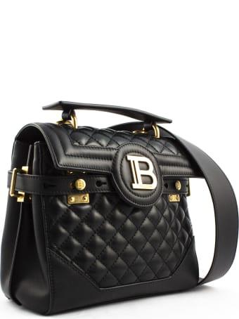 Balmain Black Lambskin Leather B-buzz 23 Bag
