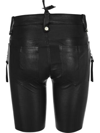 Ben Taverniti Unravel Project Unravel Lace-up Leather Shorts